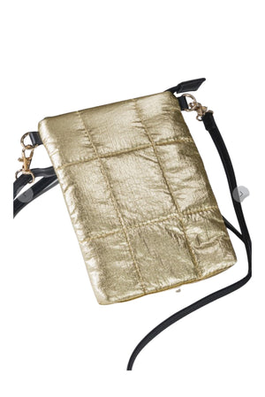 Load image into Gallery viewer, Gold Metallic Crossbody Bag *FINAL SALE*