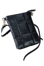 Black Metallic Crossbody Bag