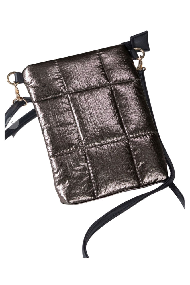 Pewter Metallic Crossbody Bag
