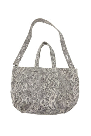 large beige scale print bag, affordable accessories, shop style your senses by Mallory Fitzsimmons