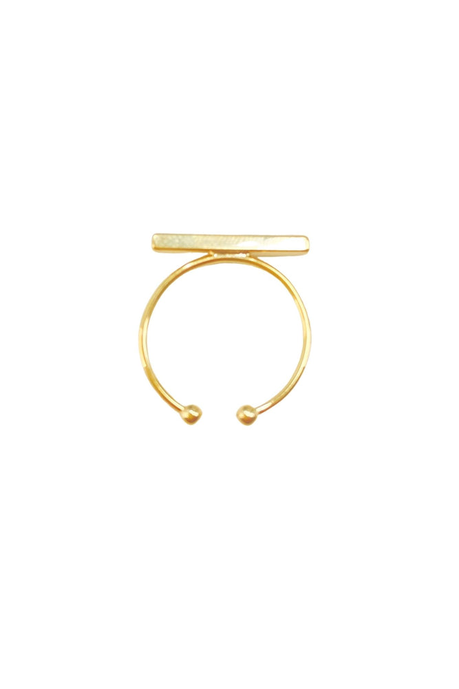 gold bar adjustable ring, trendy jewelry, affordable accessories, shop style your senses by Mallory Fitzsimmons