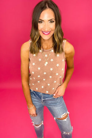 washed rose star tank, distressed jeans, affordable style, shop style your senses by mallory fitzsimmons