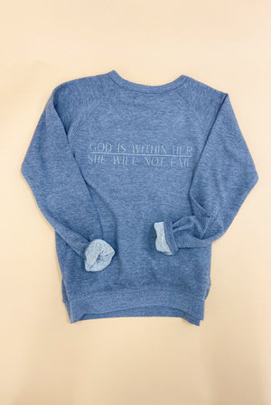 Psalm 46:5 Scripture Sweatshirt Graphite,  Women's Christian Clothing, Shop Style Your Senses by Mallory Fitzsimmons
