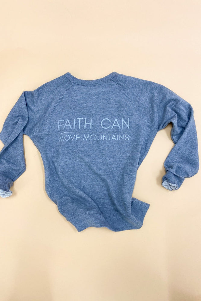 Matthew 17:20 Scripture Sweatshirt Graphite (v2), Women's Christian Clothing, Shop Style Your Senses by Mallory Fitzsimmons