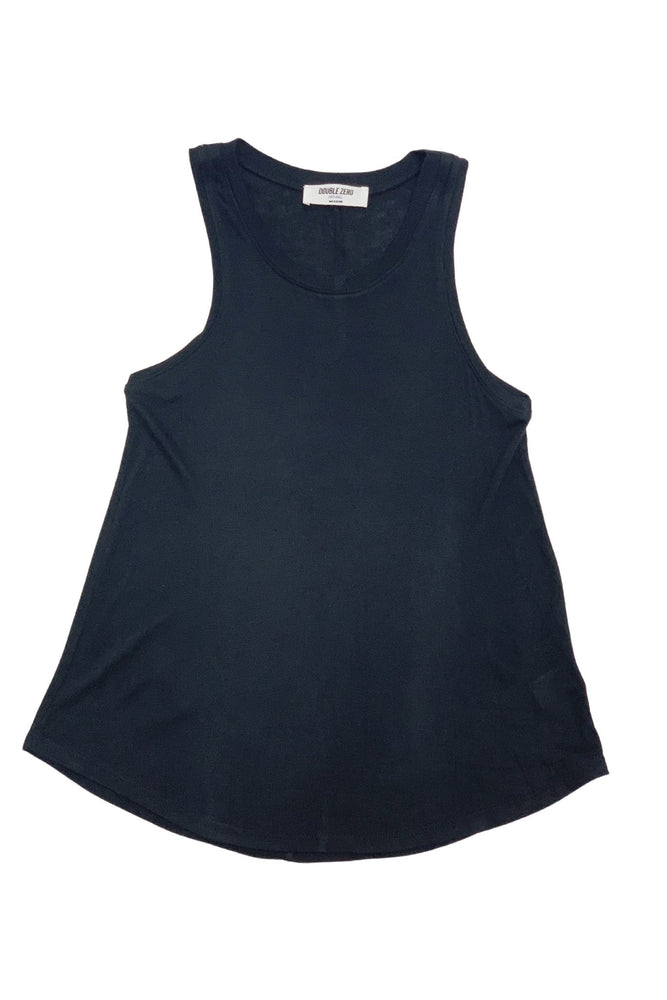 Black Scoop Neck Swing Tank