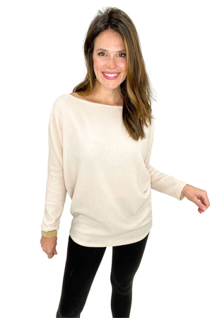 oatmeal boat neck dolman top, black leggings, off the shoulder, shop style your senses by mallory fitzsimmons