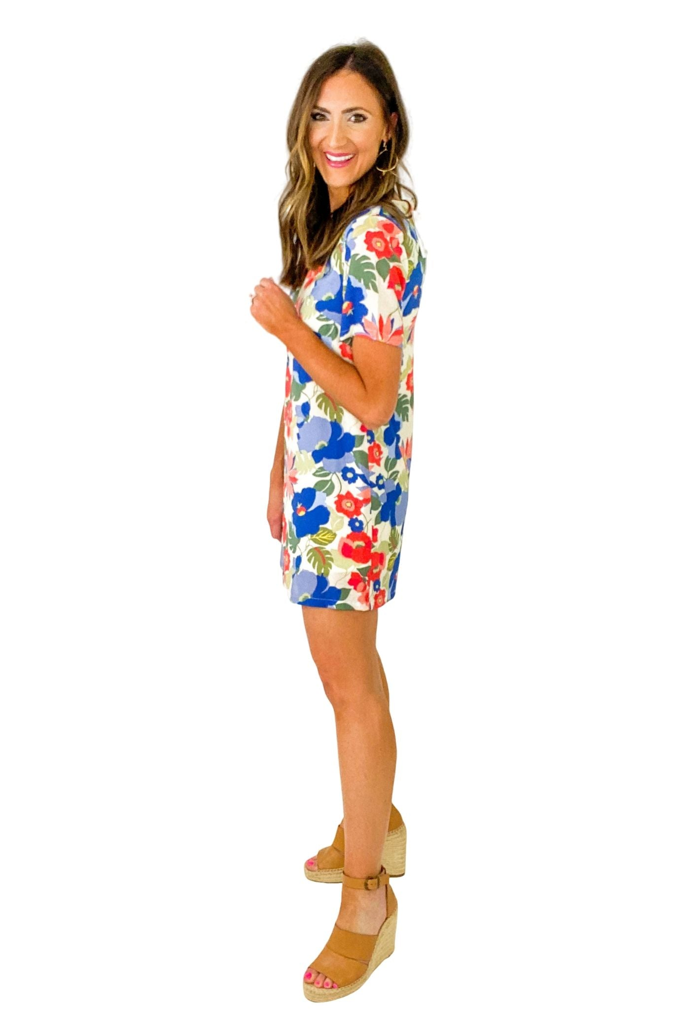 Retro Floral Mini Dress *FINAL SALE*