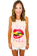 Rock and Roll Lips Tank