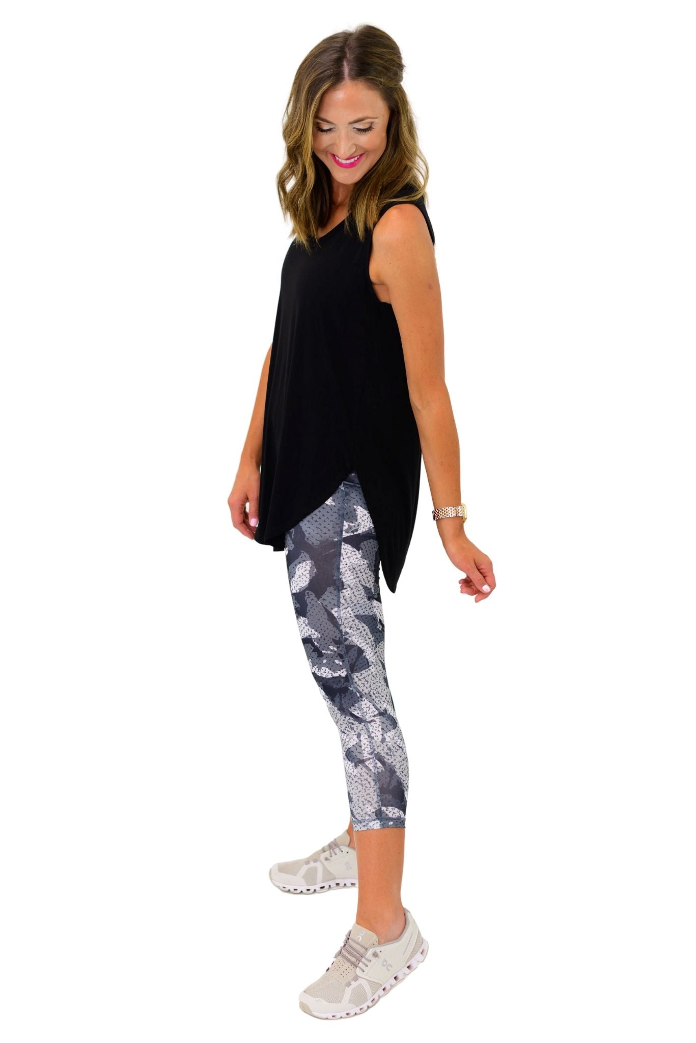 Grey Kaleidoscope Camo Leggings