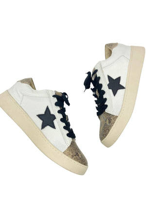 Load image into Gallery viewer, Neutral Star Sneaker w/ Scale Print Detail