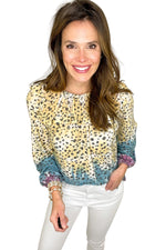 multi color animal print long sleeve knit top, white skinny jeans, spring tops, shop style your senses by mallory fitzsimmons