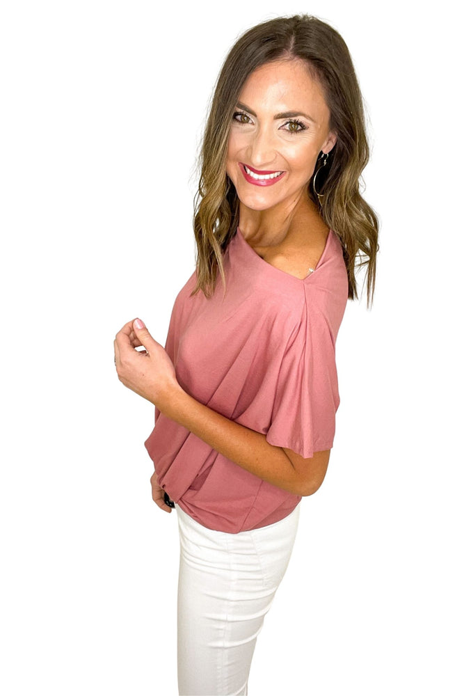 mauve boat neck short sleeve knit top, white skinny jeans, spring tops, shop style your senses by mallory fitzsimmons