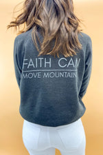 Matthew 17:20 Scripture Sweatshirt Charcoal (v2), Women's Christian Clothing, Shop Style Your Senses by Mallory Fitzsimmons