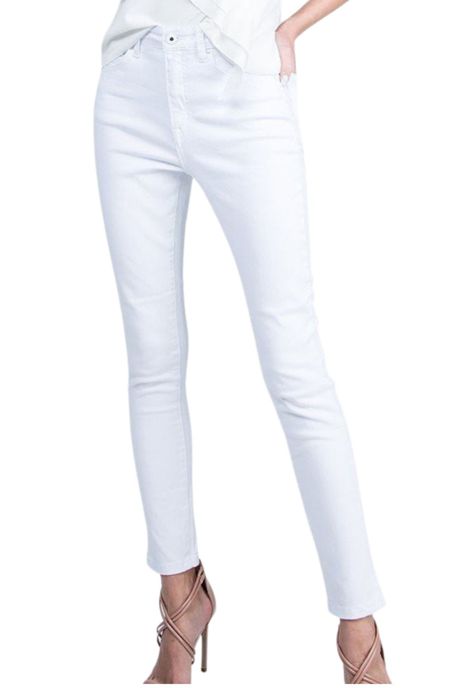 white skinny jeans, spring denim shop style your senses