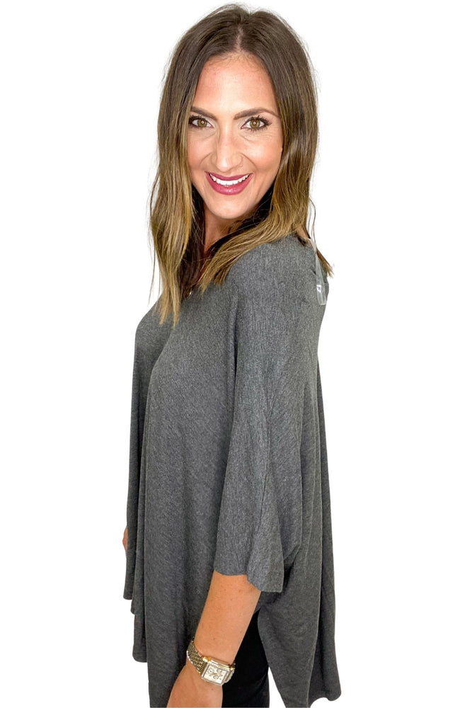 Charcoal Lightweight Poncho