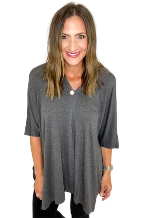 Load image into Gallery viewer, Charcoal Lightweight Poncho