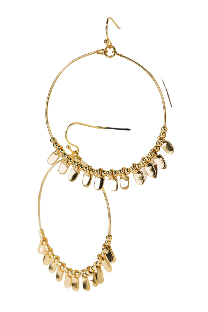 Gold Hoop Earrings w/ Beads and Charms