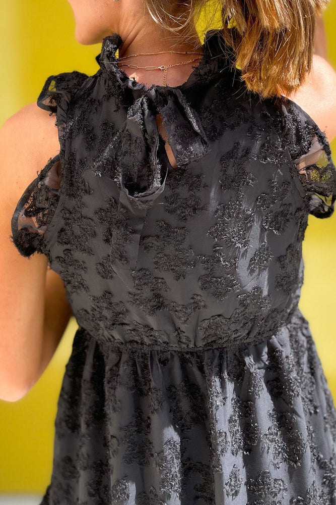black lace overlay tie back dress, spring dresses, special occasion, Sunday best, shop style your senses by mallory fitzsimmons