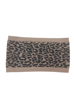 Mocha Animal Patterned Bandeau