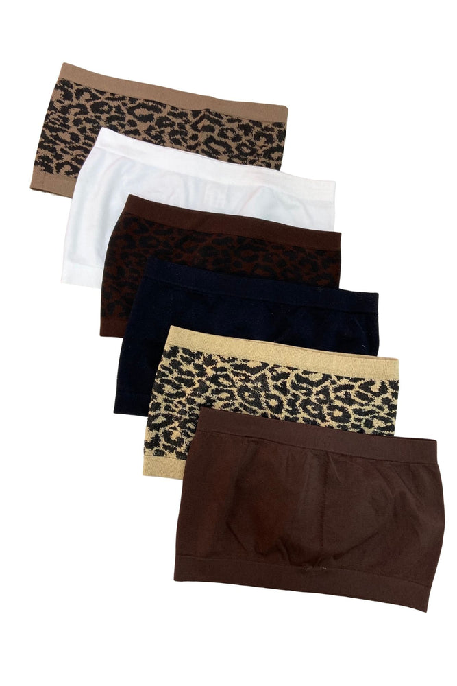 Brown Animal Patterned Bandeau