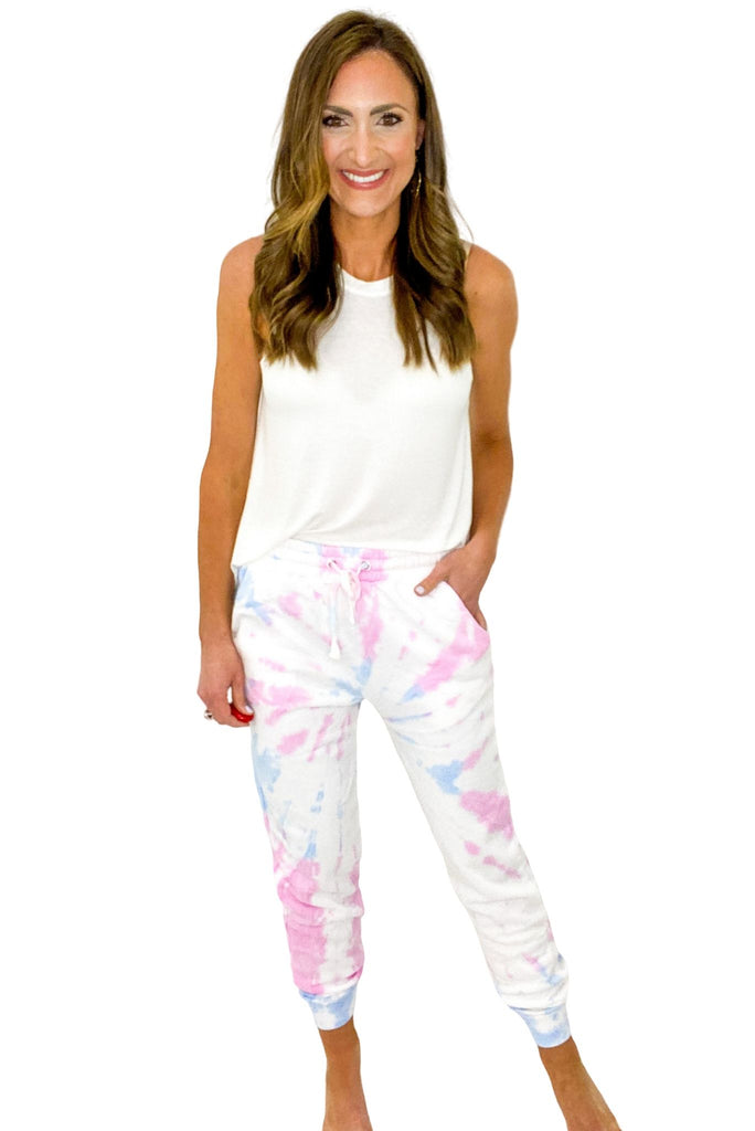 Pink and Blue Tie Dye Joggers