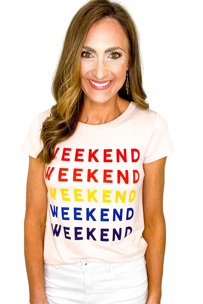 Blush Weekend Graphic Tee