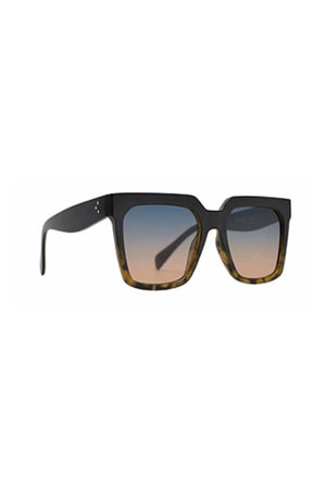 Brown Tortoise and Black Oversized Square Frame Sunglasses