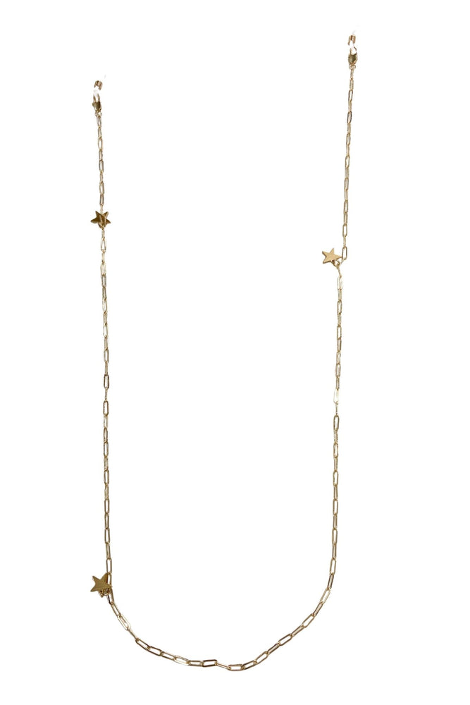 Gold Sunglasses Chain w/ Star Charms