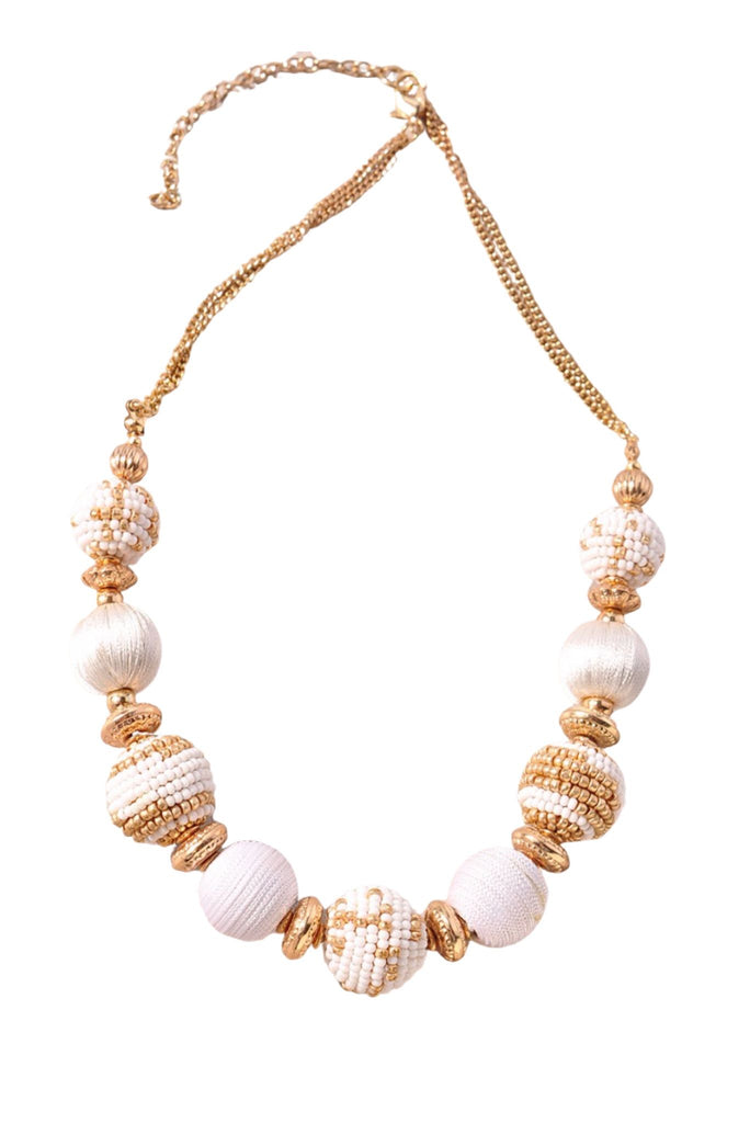 Ivory and Gold Ball Necklace