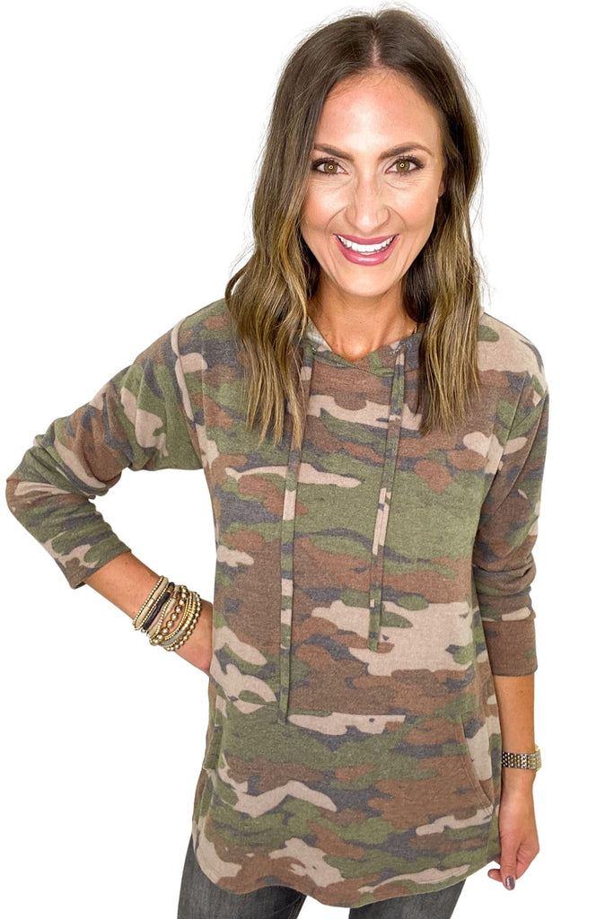 Brushed Camo Hoodie Pullover