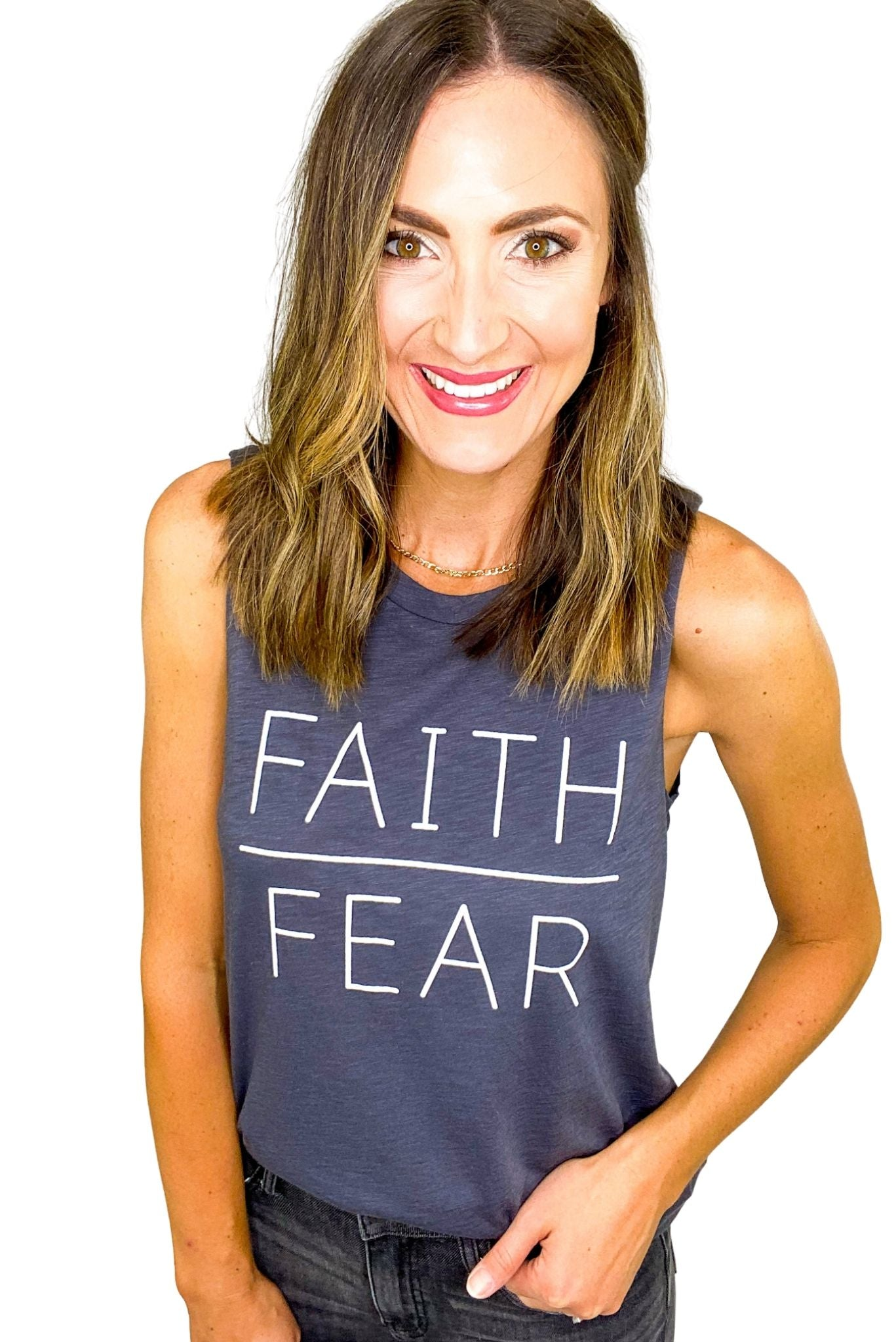 Faith Over Fear Graphic Tank