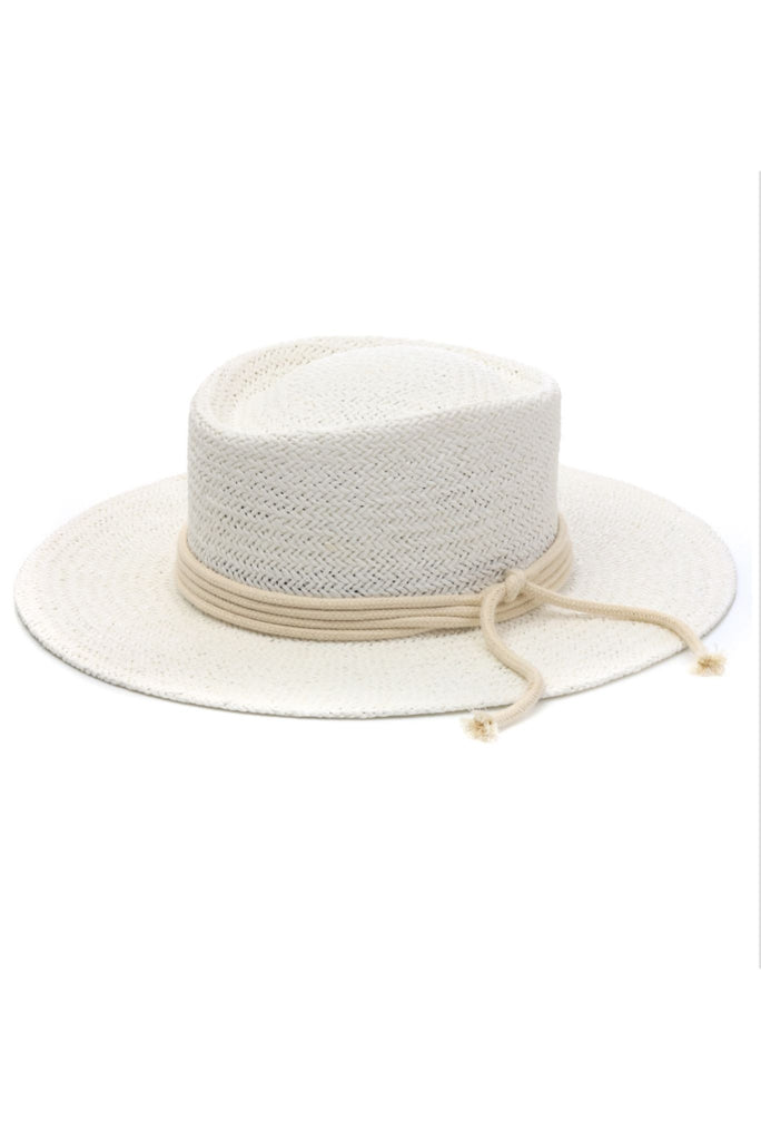 White Straw Sun Hat