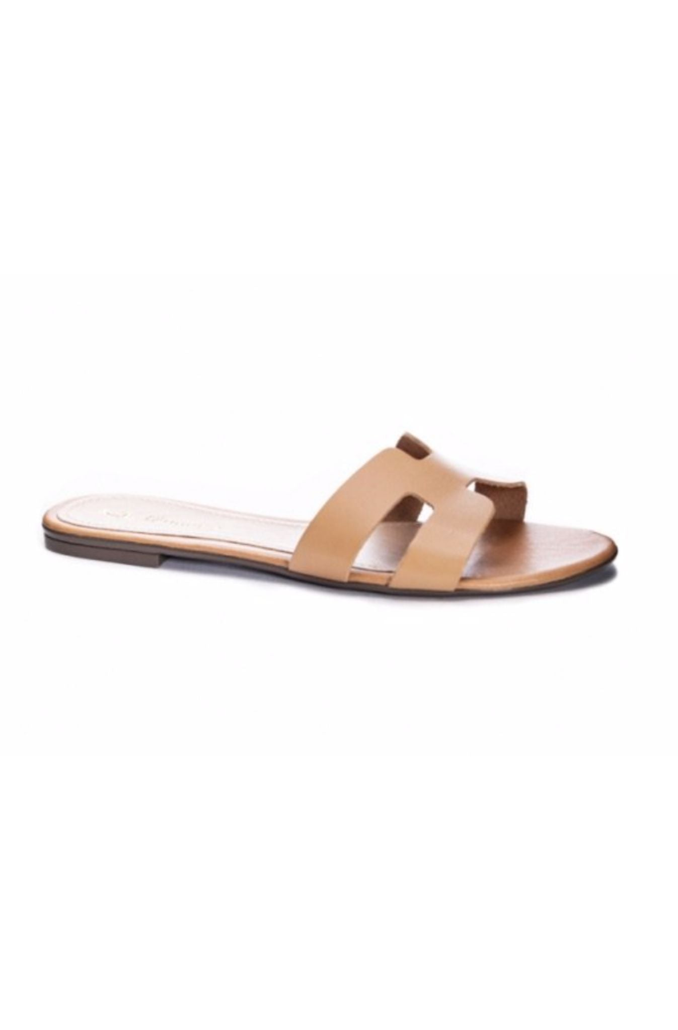 Natural Designer Inspired H Sandals
