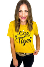 Mustard Easy Tiger Graphic Tee