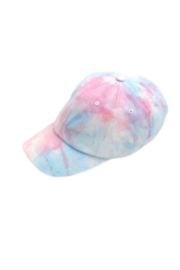 Pink and Blue Tie Dye Hat