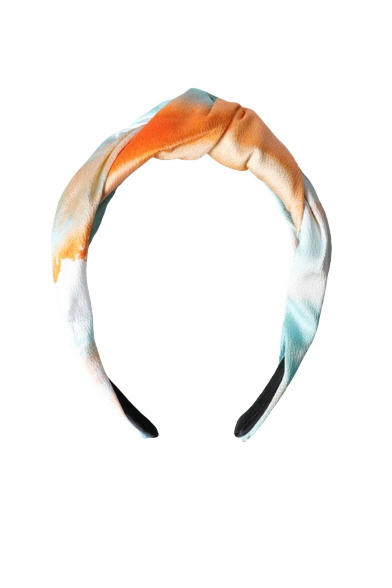 Orange and Teal Tie Dye Headband