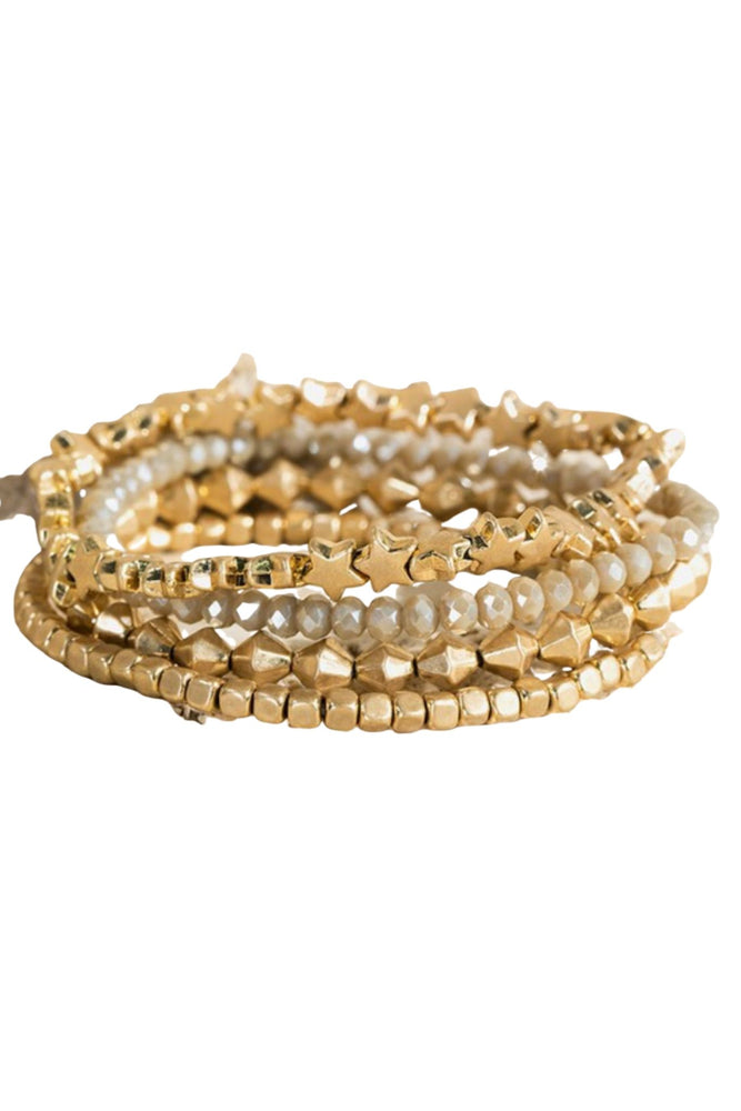 Gold Star Bracelet Set w/ Accent Strand