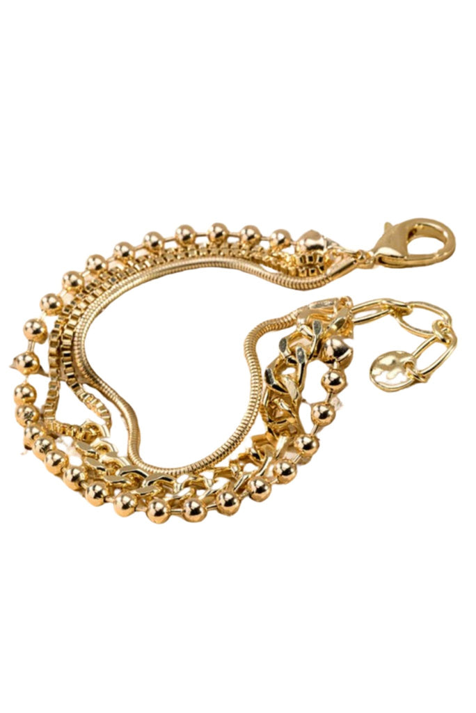 Gold Mixed Chain Bracelet