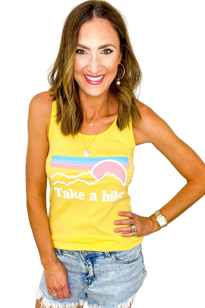 Load image into Gallery viewer, Yellow Take a Hike Tank *FINAL SALE*