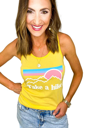 Yellow Take a Hike Tank *FINAL SALE*
