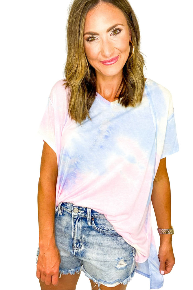 Oversized Cotton Candy Tie Dye Top *FINAL SALE*