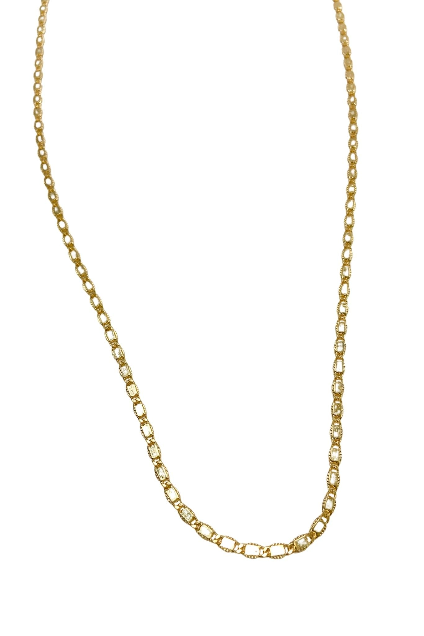 Long Thin Gold Chain Necklace