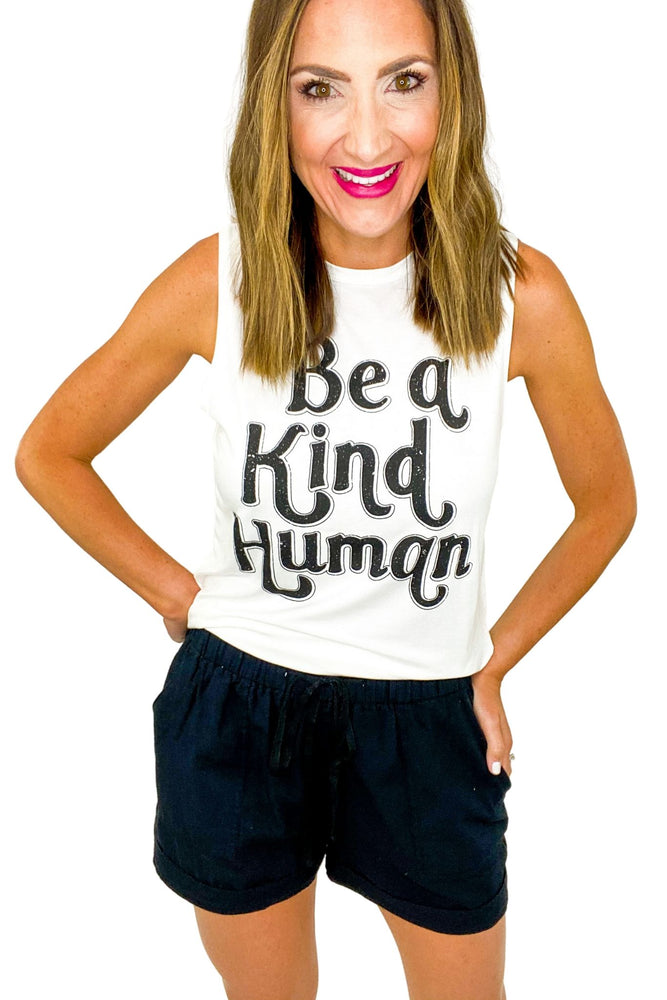 """Be a Kind Human"" Graphic Tank"