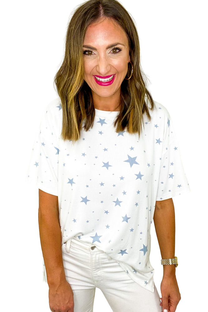Blue Star Print Tee *FINAL SALE*