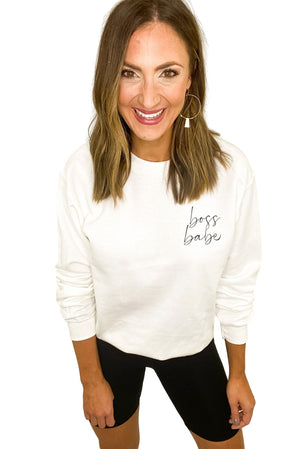 Load image into Gallery viewer, Boss Babe Sweatshirt