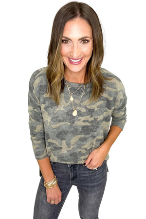Brushed Camo Long Sleeve Top *FINAL SALE*