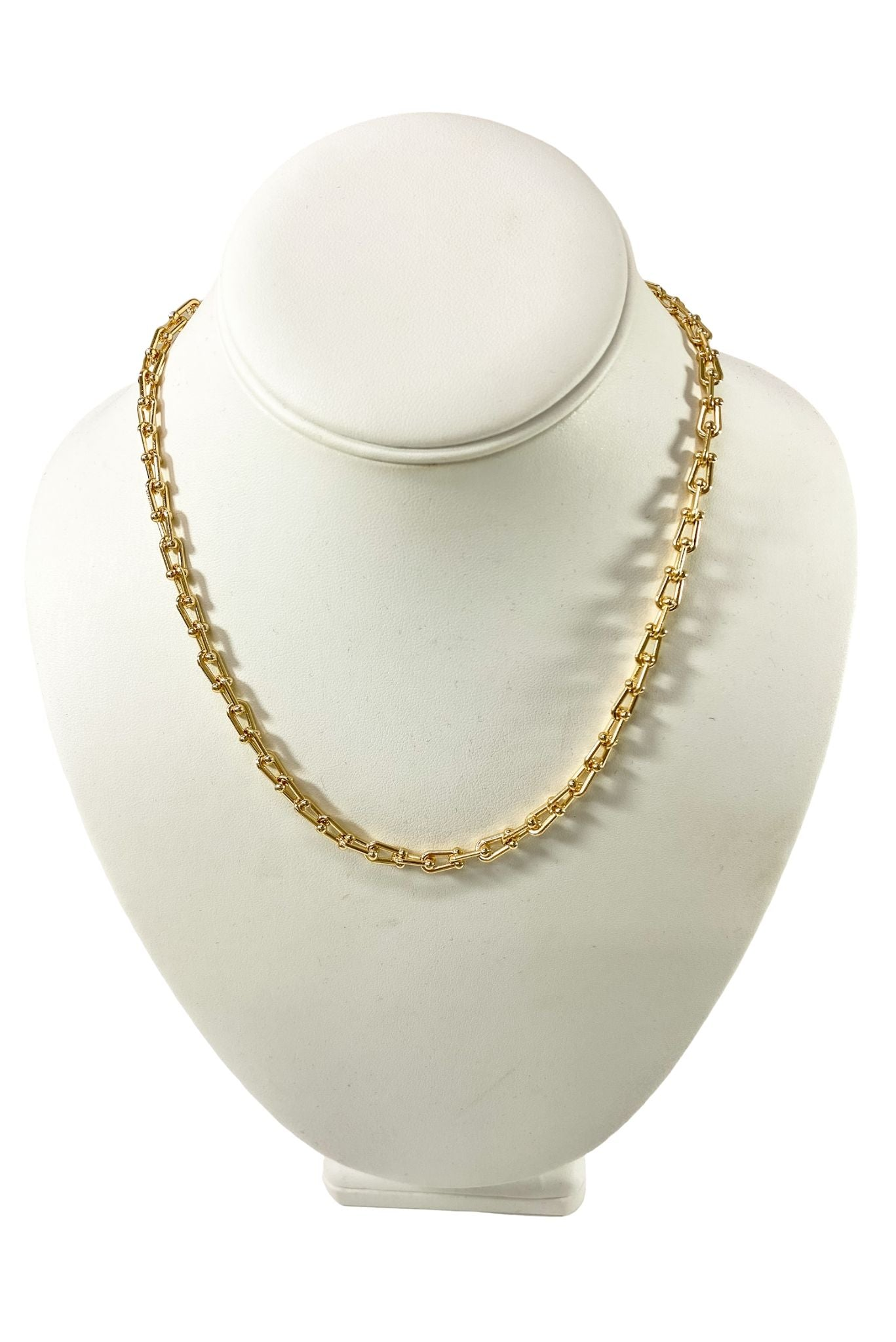 Gold U Chain Link Necklace