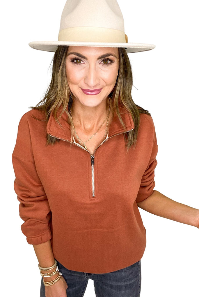 Copper Half Zip Pullover