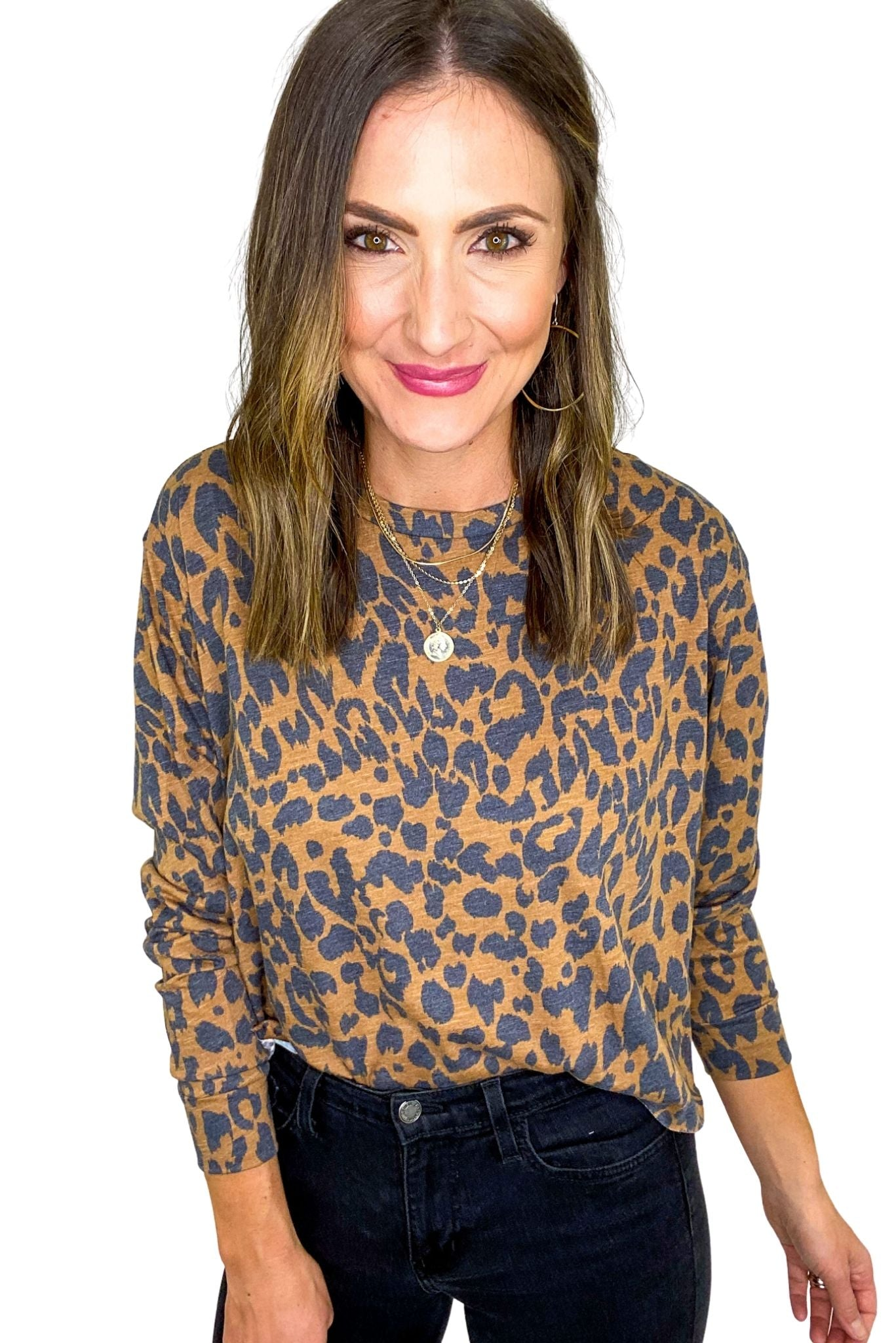 Animal Print Long Sleeve Top *FINAL SALE*
