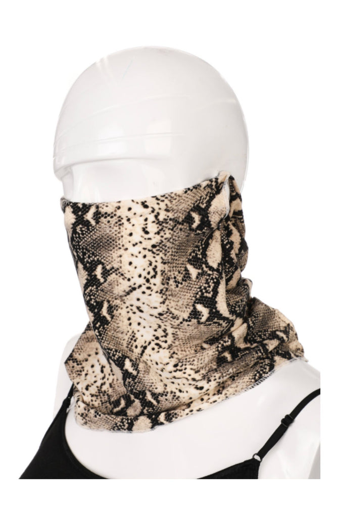 Scale Print Scarf Style Mask